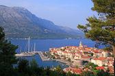 Korcula island and the city, Croatia — Stock Photo