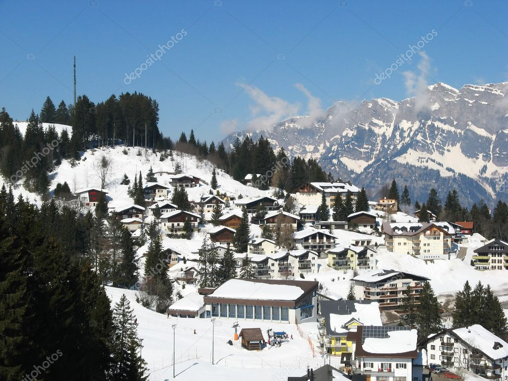 Alpine village (Flumserberg, St. Gallen, Switzerland) — Stock Photo #1560821