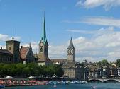Zurich cityscape in summer — Stock Photo