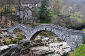 Ancient stone bridge in Verzasca valley — Stock Photo