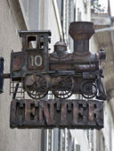 Steam engine model — Stock Photo