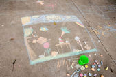 Chalk Drawing — 图库照片