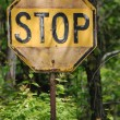 Stock Photo: Antique Stop Sign