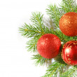 Stock Photo: Christmas tree with red balls