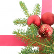 Chrismas Stilleven met rode ballen — Stockfoto