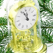 Christmas decoration with watch — Stock Photo #1532447