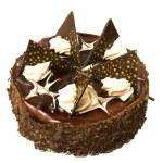 Chocolate cake isolated — Stock Photo