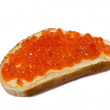 Sandwich with butter and caviar — Stock Photo