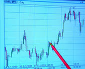 Graph business analyzing — Stock Photo