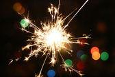 Sparkler bright celebration — Stock Photo