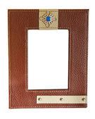 Frame leather isolated — Stock Photo