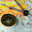 Compass and map — Stock Photo #1543377