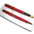 Stock Photo: Pen and Fountain Pen in box