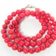 Necklace beads coral — Stock Photo