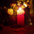 Candle still life — Stock Photo