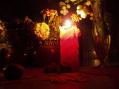 Candle still life — Photo