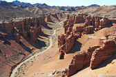 Canyon Charyn; Central Asia, Kazakhstan — Stock Photo