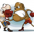 Boxing on Ring. — Grafika wektorowa