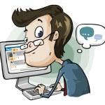 slösa tid på facebook och chatt — Stockvektor