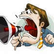 Royalty-Free Stock Vector Image: Man with Megaphone