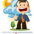 Cloudy. Weather Icon — Stock Vector