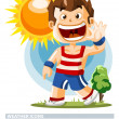 Sunny. Weather Icon - Stock Vector
