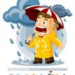 Rain. Weather Icon - Stock Vector