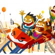 Fun with Roller Coaster — Image vectorielle