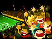 Soccer night match — Stock Vector