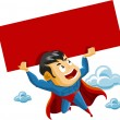 Superhero lifts Sign - Stock Vector