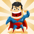 Strong Super Hero - Imagens vectoriais em stock