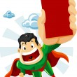 Superhero with Ads - Imagens vectoriais em stock