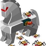 Threat of Trojan Virus — Stock Vector #1587757