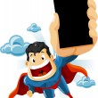 Stock Vector: Superhero for Commercials