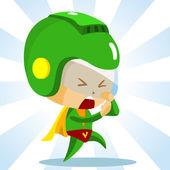 Kid play Superhero — Stock Vector