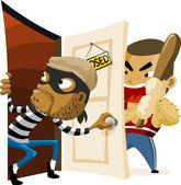 Criminal Thief Activity. — Stock Vector