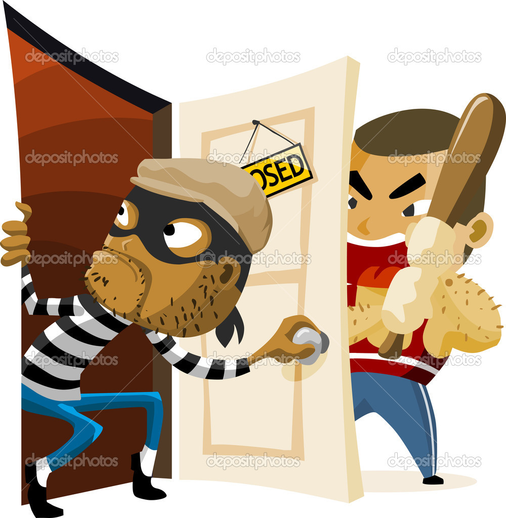 Criminal Thief Activity. Detailed vector Illustration.  Stock Vector #1587760