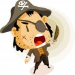 Pirate Captain — Stock Vector