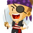 Kid Play Pirate — Stock Vector #1607246