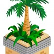 Stock Vector: Palm