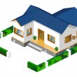 Rich House Isometric - Stock Vector