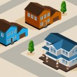 House Isometric — Stock Vector