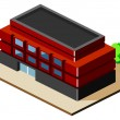 Stock Vector: Building Isometric