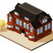 Mansion Isometric - Stock Vector