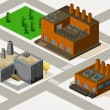 Stock Vector: Factory Isometric