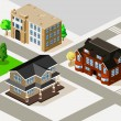 Rich House and Apartment Isometric — Stockvectorbeeld