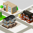Rich House and Apartment Isometric — Image vectorielle