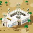 Hajj on Mecca - Stock Vector