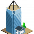 Skyscraper Building Isometric — Stock Vector