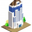 Stock Vector: High Building Isometric